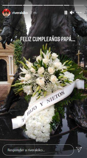 Kiko Rivera envía un ramo de flores a Paquirri / Instagram: @riverakiko