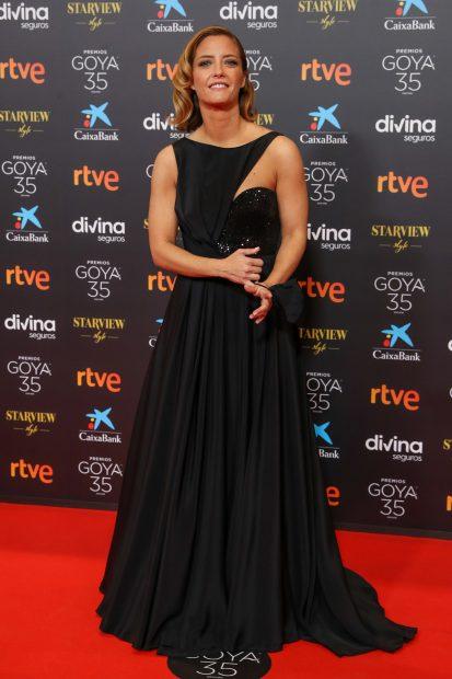 María Casado, presentadora de la gala ha apostado por el negro./Gtres