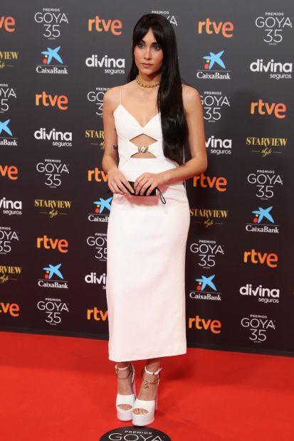 Aitana Ocaña ha sido una de las peor vestidas en los premios Goya 2021./Gtres