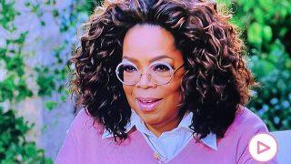 Oprah Winfrey, durante la entrevista a Harry y Meghan / CBS