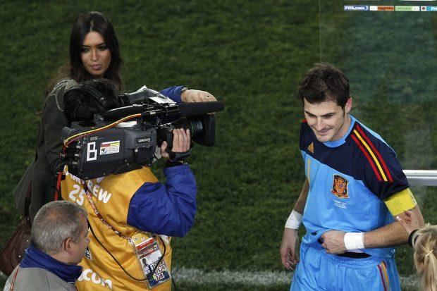 Sara Carbonero e Iker Casillas durante el Mundial que tuvo lugar en Sudáfrica./Gtres