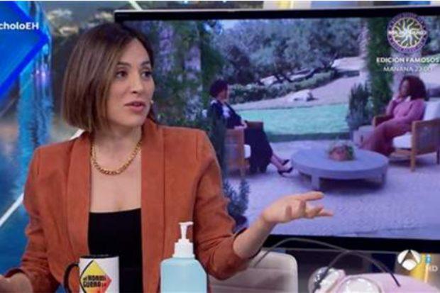 Tamara Falcó en 'El Hormiguero', programa presentado por Pablo Motos./Antena 3