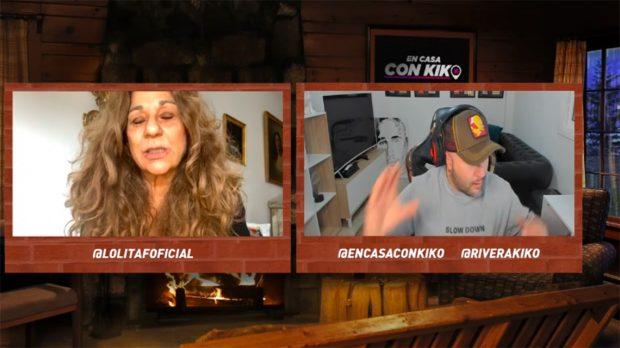 Kiko Rivera y Lolita Flores durante la última entrevista del DJ emitida en Twitch./Twitch