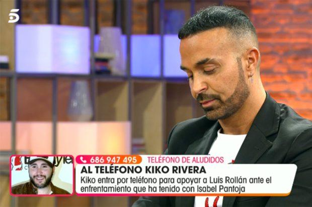 Luis Rollán habla por teléfono en directo con Kiko Rivera en 'Viva la Vida'./Telecinco