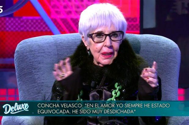 La actriz Concha Velasco muy sincera en 'Sábado Deluxe'./Telecinco