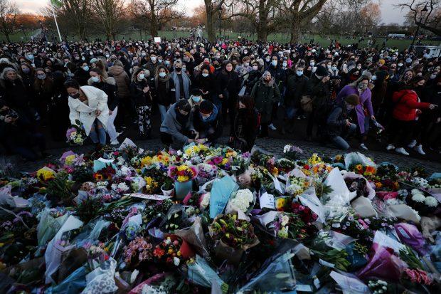 Concentración en Londres por el asesinato de Sarah Everard./Gtres