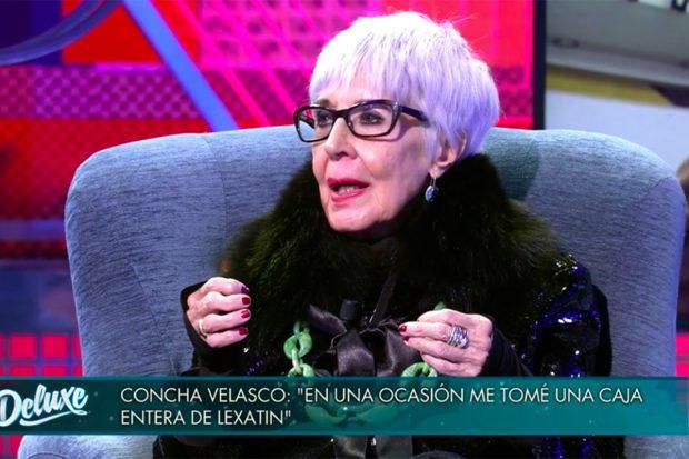 Concha Velasco en 'Sábado Deluxe'./Telecinco