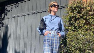 Los pantalones a cuadros de Zara con los que Amelia Bono sale a comprar churros