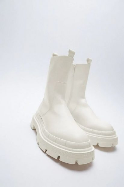 botas track blancas zara