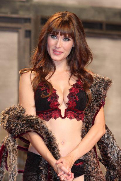 Pilar Rubio, presentando la ropa interior de la marca Selmark / Gtres