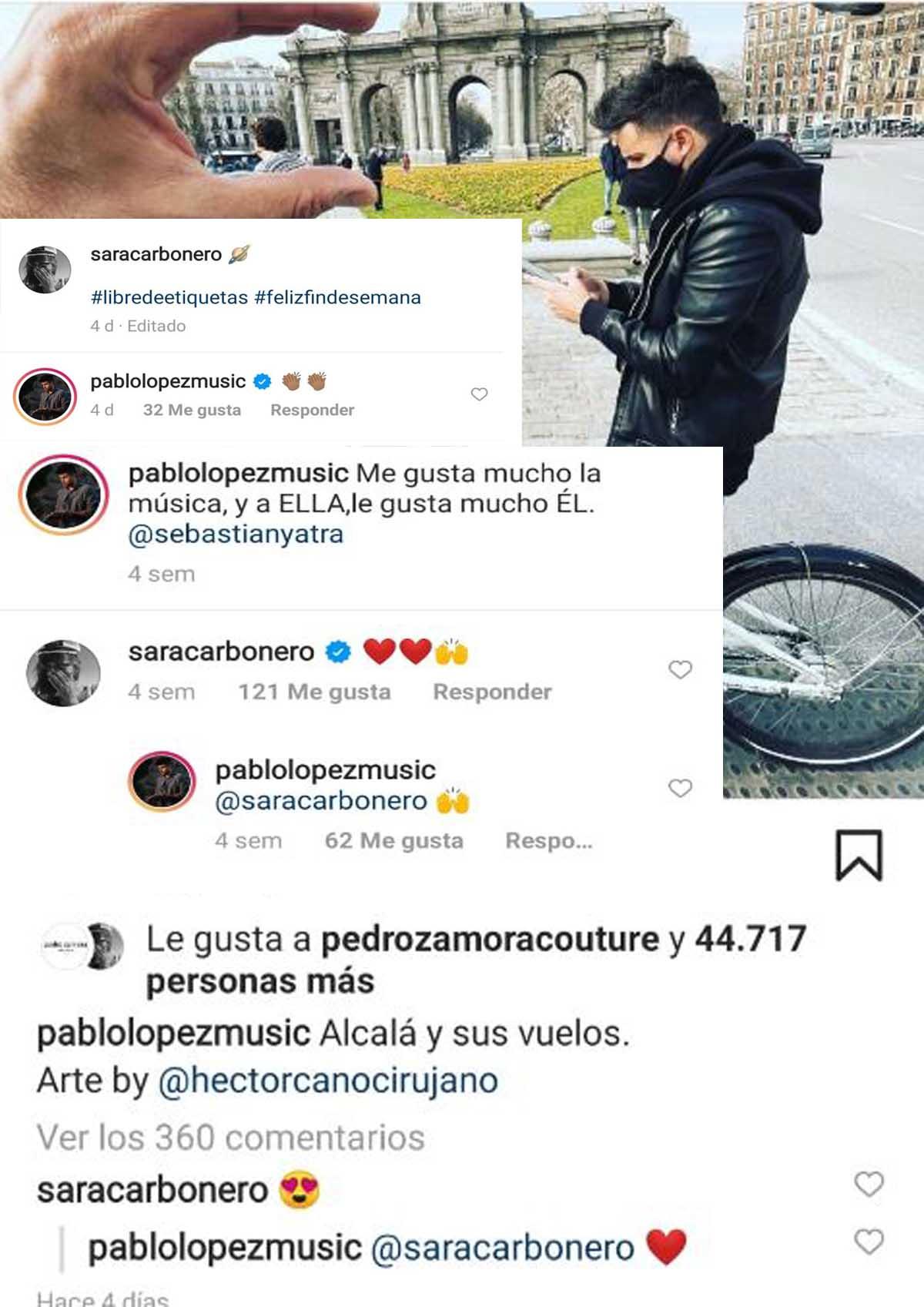 Sara Carbonero y Pablo López se muestran muy cercanos por Instagram / Instagram