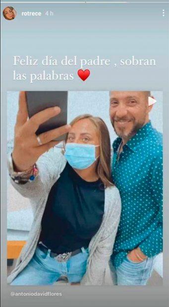 Rocío Flores felicita el Día del Padre a Antonio David / Instagram: @rotrece