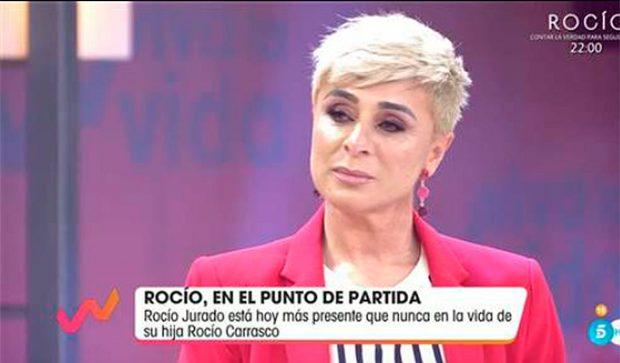 Ana María Aldón se ha mostrado muy emocionada hoy al ver imágenes de Rocío Jurado / Mediaset
