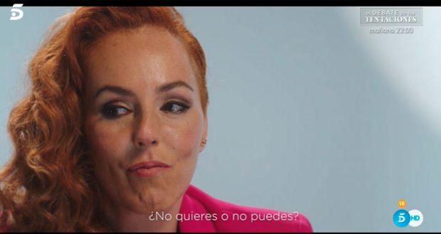 Rocío Carrasco no ha querido nombrar a Antonio David / Mediaset