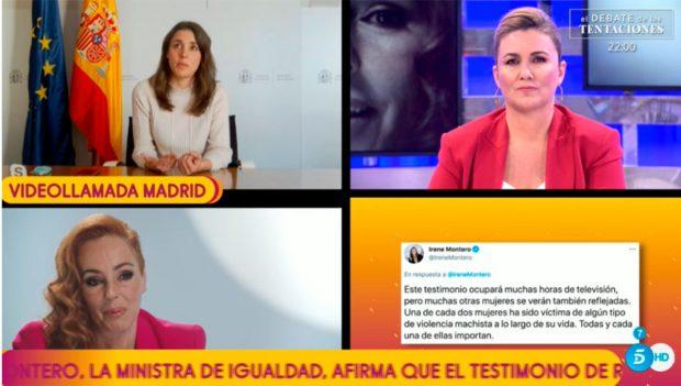Montero ha hablado de la justicia patriarcal / Mediaset