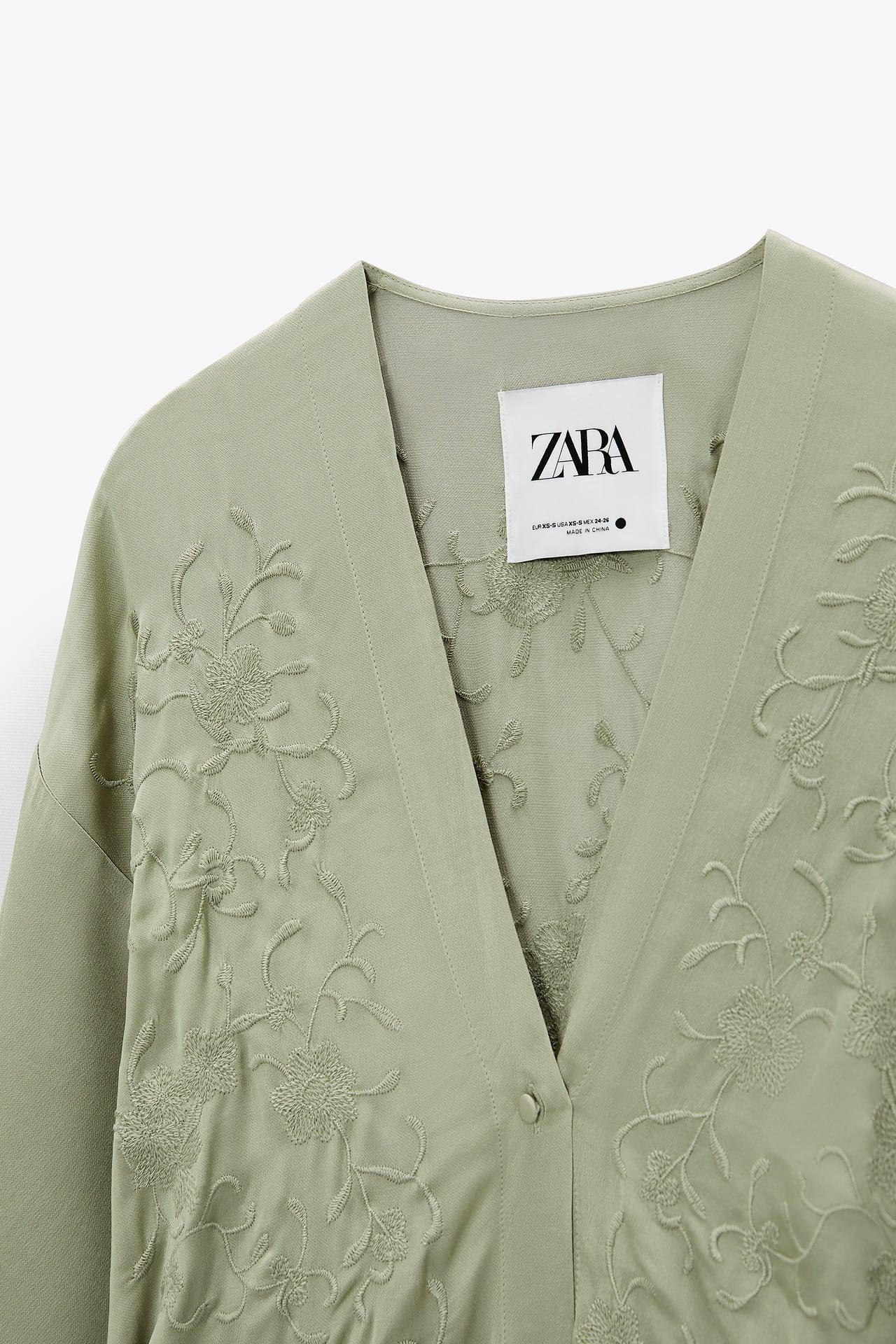 Este es el kimono bordado a mano de Zara que llevarás como vestido, camisa o chaqueta