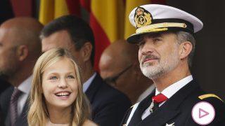 Leonor y su padre, el rey Felipe  / Gtres