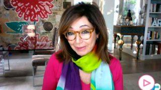 Ana Rosa Quintana ha conectado con su programa desde el salón de su casa/Telecinco