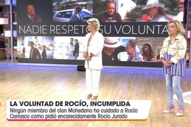 Carmen Borrego y Terelu Campos en 'Viva la vida'./Telecinco