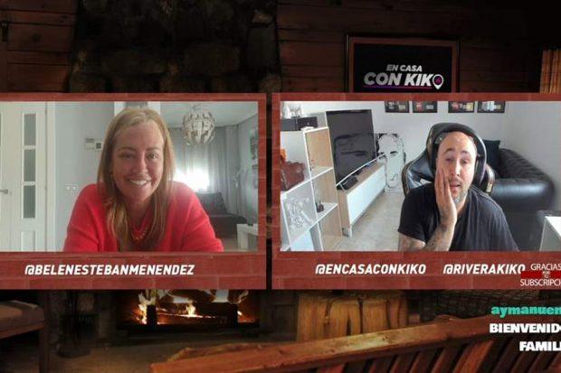 Kiko Rivera y Belén Esteban en directo a través de Twitch./Twitch