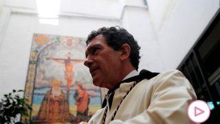 Antonio Banderas, en su cofradía, durante una Semana Santa / Gtres