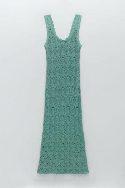 vestido crochet zara