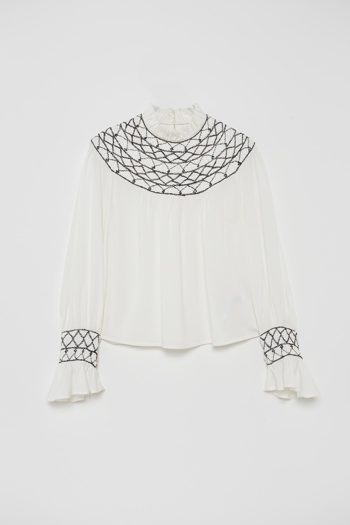 Sfera despierta pasiones con la blusa bordada que copia a la perfección de Prada