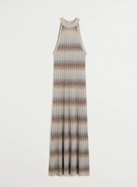 El vestido de punto más bonito y barato de la primavera es de Mango Outlet