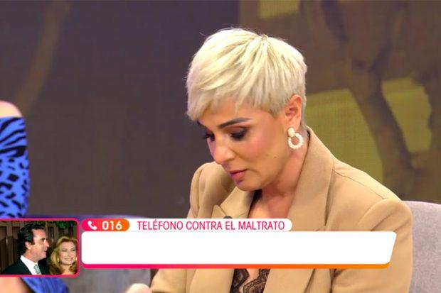 Ana María Aldón se ha emocionado este domingo en 'Viva la Vida' al hablar de su pasado./'Viva la Vida'