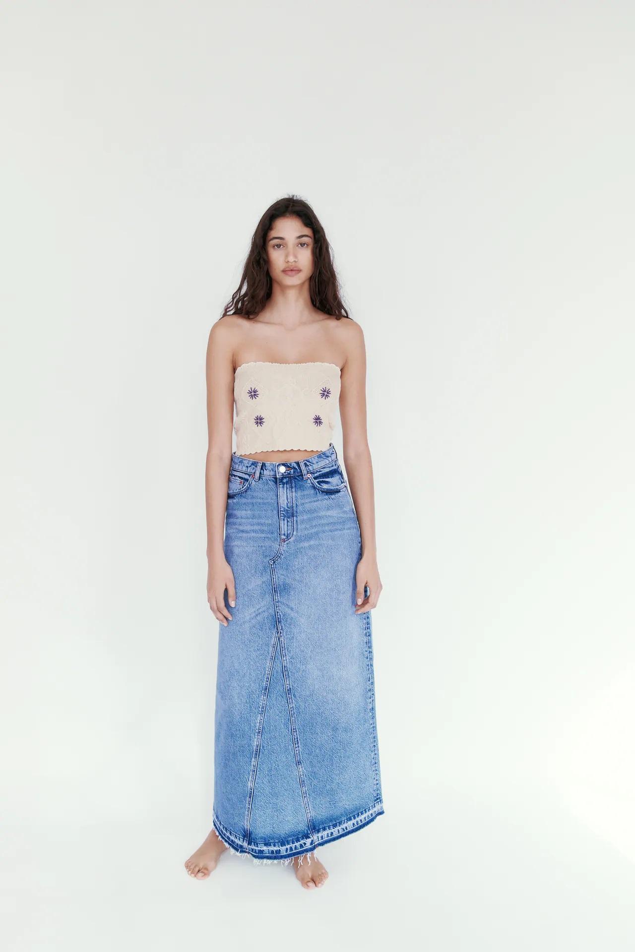 Zara recupera la falda larga que llevaste en los 90 y es tendencia