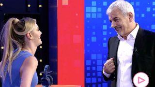 Carlos Sobera y su hijastra Arianna Aragón en el estreno de 'El precio justo'/Telecinco