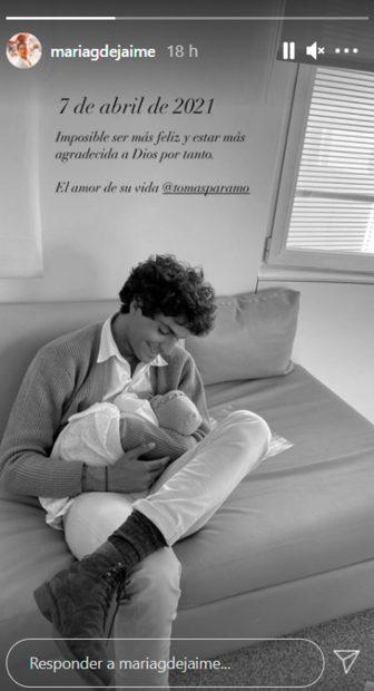 Tomás Páramo junto a la pequeña Catalina / Instagram