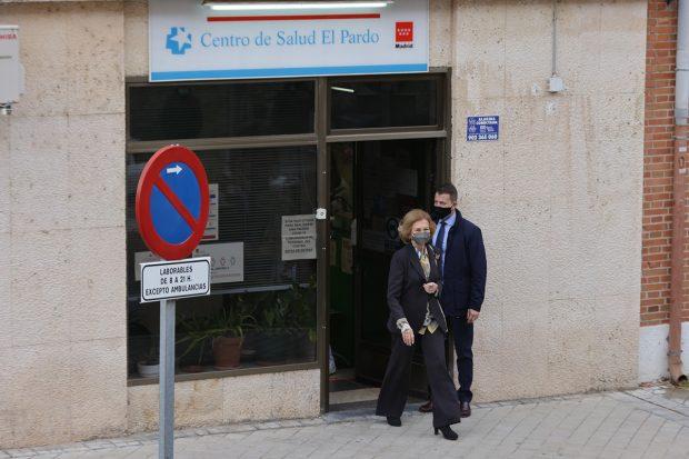 Doña Sofía ha acudido este viernes al Centro de Salude El Pardo -Madrid-./Gtres