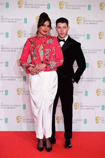 Priyanka Chopra y Nick Jonas, en los Premios Bafta 2021 / Gtres