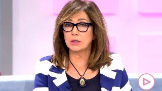 Ana Rosa Quintana, durante el programa de hoy / Telecinco