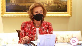 La reina Sofía durante la reunión / Gtres