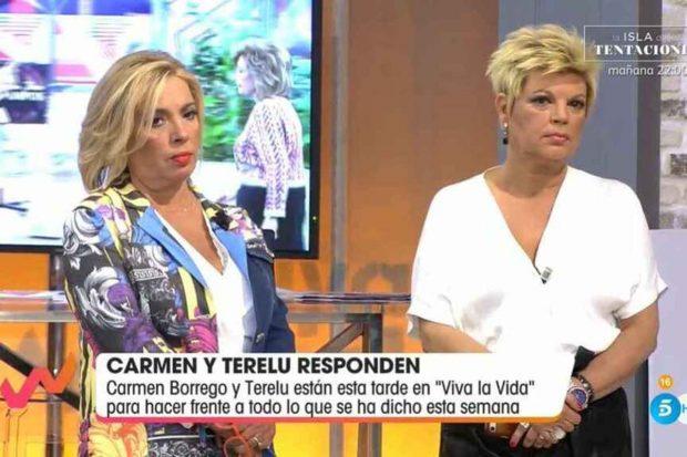 Terelu Campos y Carmen Borrego en 'Viva la Vida'./Telecinco