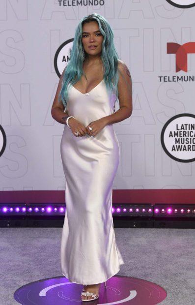 Karol G en los Latin American Awards./Gtres