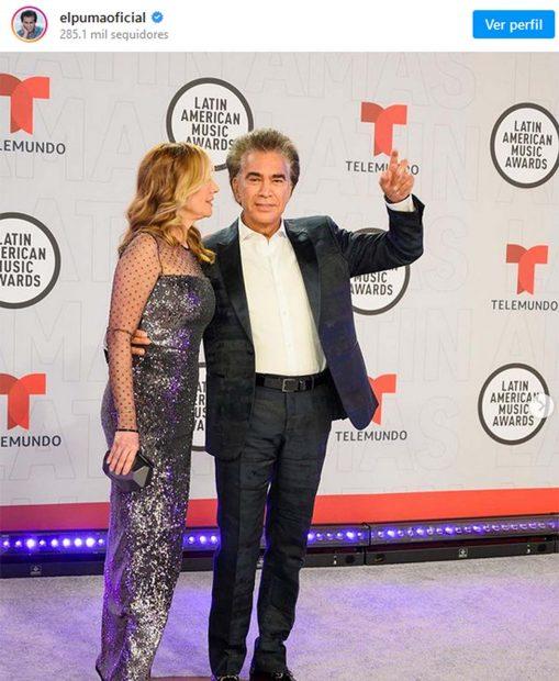 'El Puma' en los Latin American Awards/Instagram @elpuma