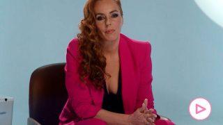 Rocío Carrasco durante la emisión del documental / Telecinco