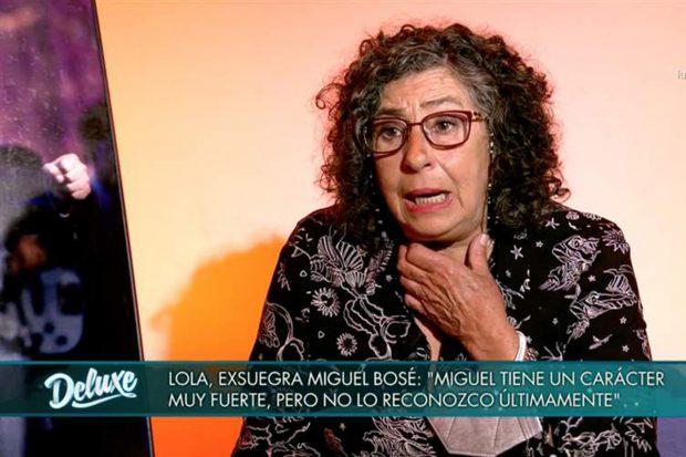 Lola Medina en 'Sábado Deluxe' hablando sobre Miguel Bosé./Telecinco