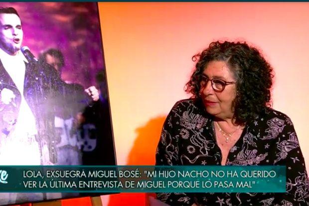 Lola Madina, madre de Nacho Palau arremete contra el cantante./Telecinco