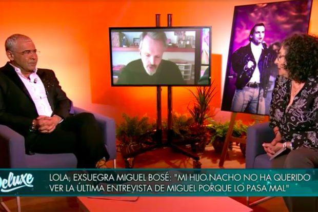 Lola Medina y Jorge Javier Vázquez en 'Sábado Deluxe'./Telecinco