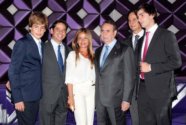 Pedro Trapote, Begoña García-Vaquero y sus hijos