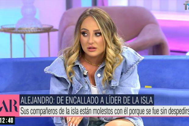 Rocío Flores comentanto 'Supervivientes 2021' en 'El programa de Ana Rosa'./Telecinco