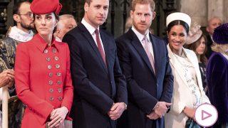 Los duques de Sussex y los de Cambridge en una imagen de archivo / Gtres