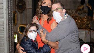 Paz Padilla junto a Gloria Ramos y José de Luna en la presentación de 'El Despertar de los Sentidos'/Gtres