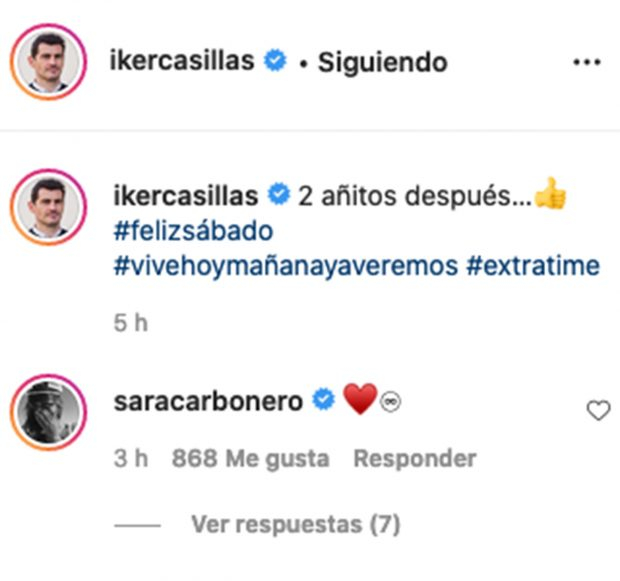 Perfil de Instagram de Iker Casillas. /Instagram @ikercasillas