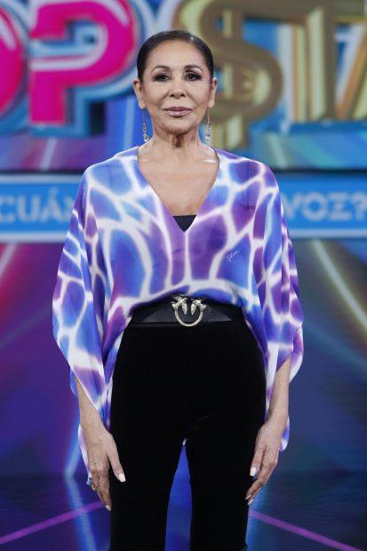 Isabel Pantoja en la presentación de 'Top Star' en Madrid./Gtres
