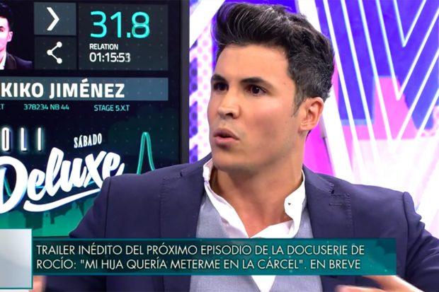 Kiko Jiménez se ha sometido al polígrafo de 'Sábado Deluxe'./Telecinco
